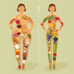 Healthy lifestyle, a healthy diet and daily routine. Diet. Choice of girls: being fat or slim. Healthy lifestyle and bad habits.